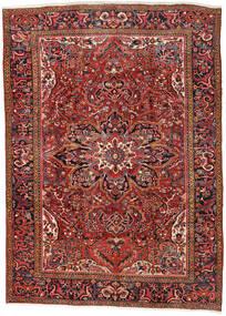 Heriz Teppich  270X376 Echter Orientalischer Handgeknüpfter Dunkelrot/Rost/Rot Großer (Wolle, Persien/Iran)