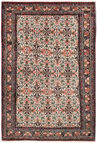 Bidjar Teppich  200X302 Echter Orientalischer Handgeknüpfter Dunkelrot/Dunkelbraun (Wolle, Persien/Iran)