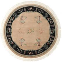 China 90 Line Teppich Ø 244 Echter Orientalischer Handgeknüpfter Rund Hellbraun/Beige (Wolle, China)