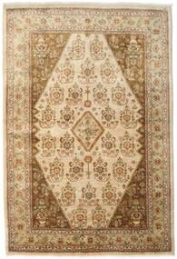 Ziegler Teppich 167X246 Echter Orientalischer Handgeknüpfter Hellbraun/Dunkel Beige (Wolle, Pakistan)
