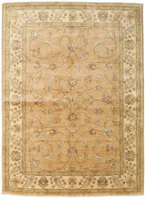 Ziegler Teppich 167X227 Echter Orientalischer Handgeknüpfter Dunkel Beige/Hellbraun (Wolle, Pakistan)