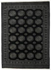 Pakistan Buchara 3Ply Teppich  214X296 Echter Orientalischer Handgeknüpfter Schwartz/Dunkelgrau (Wolle, Pakistan)