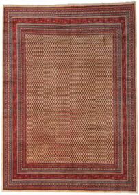 Sarough Mir Teppich  289X399 Echter Orientalischer Handgeknüpfter Dunkelbraun/Dunkelrot Großer (Wolle, Persien/Iran)