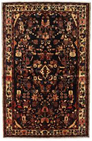Asadabad Teppich  150X234 Echter Orientalischer Handgeknüpfter Dunkelbraun/Dunkelrot (Wolle, Persien/Iran)