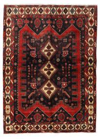 Afshar Teppich 152X208 Echter Orientalischer Handgeknüpfter Dunkelrot/Schwartz (Wolle, Persien/Iran)