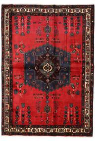 Afshar Teppich 160X227 Echter Orientalischer Handgeknüpfter Schwartz/Rot (Wolle, Persien/Iran)
