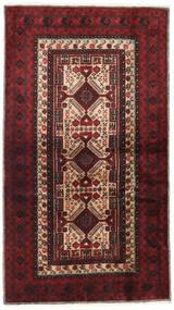Belutsch Teppich  103X185 Echter Orientalischer Handgeknüpfter Dunkelrot/Dunkelbraun (Wolle, Persien/Iran)