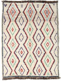 Moroccan Berber - Afghanistan Teppich  96X127 Echter Moderner Handgeknüpfter Beige/Dunkel Beige (Wolle, Afghanistan)