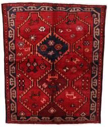 Lori Teppich 158X195 Echter Orientalischer Handgeknüpfter Dunkelrot/Rost/Rot (Wolle, Persien/Iran)