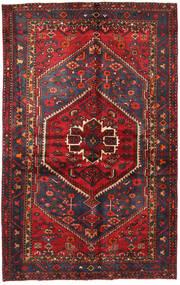 Hamadan Teppich  130X208 Echter Orientalischer Handgeknüpfter Dunkelrot/Schwartz (Wolle, Persien/Iran)