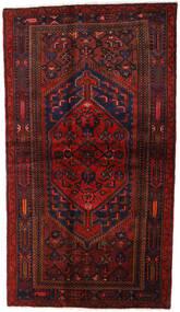 Hamadan Teppich  132X228 Echter Orientalischer Handgeknüpfter Dunkelrot (Wolle, Persien/Iran)