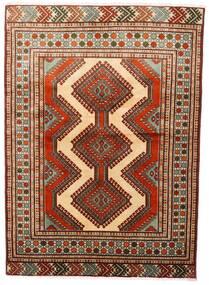 Turkaman Teppich 125X172 Echter Orientalischer Handgeknüpfter Dunkelrot/Dunkelbraun (Wolle, Persien/Iran)
