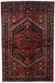 Hamadan Teppich  135X203 Echter Orientalischer Handgeknüpfter Dunkelrot (Wolle, Persien/Iran)