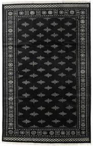 Pakistan Buchara 2Ply Teppich  199X312 Echter Orientalischer Handgeknüpfter Schwartz/Dunkelgrau (Wolle, Pakistan)