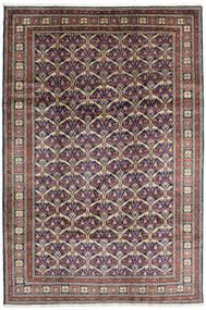 Keshan Teppich  198X292 Echter Orientalischer Handgeknüpfter Dunkelgrau/Hellgrau (Wolle, Persien/Iran)