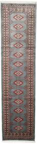 Pakistan Buchara 2Ply Teppich  75X295 Echter Orientalischer Handgeknüpfter Läufer Dunkelgrau/Schwartz (Wolle, Pakistan)