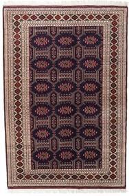 Turkaman Teppich 134X197 Echter Orientalischer Handgeknüpfter Dunkelrot/Dunkelbraun (Wolle, Persien/Iran)