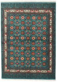 Turkaman Teppich 136X187 Echter Orientalischer Handgeknüpfter Dunkel Türkis/Dunkelgrau (Wolle, Persien/Iran)