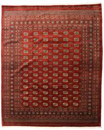 Pakistan Buchara 3Ply Teppich  253X305 Echter Orientalischer Handgeknüpfter Dunkelrot/Dunkelbraun Großer (Wolle, Pakistan)