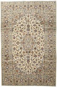 Keshan Teppich  197X296 Echter Orientalischer Handgeknüpfter Hellgrau/Beige (Wolle, Persien/Iran)