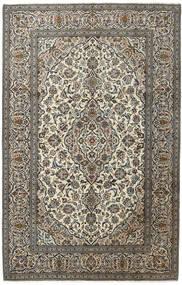 Keshan Teppich  194X303 Echter Orientalischer Handgeknüpfter Dunkelgrau/Hellgrau (Wolle, Persien/Iran)