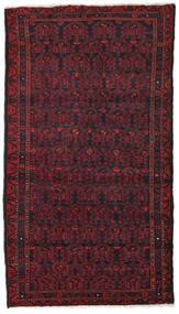 Hamadan Teppich  106X190 Echter Orientalischer Handgeknüpfter Dunkelrot/Dunkelbraun (Wolle, Persien/Iran)