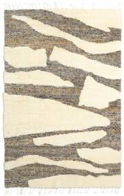 Barchi/Moroccan Berber - Indisch Teppich  160X230 Echter Moderner Handgeknüpfter Weiß/Creme/Beige/Hellgrau (Wolle, Indien)