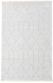 Bambus Seide Handloom Teppich  160X230 Echter Moderner Handgeknüpfter Beige/Hellgrau/Weiß/Creme ( Indien)