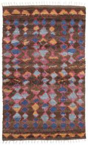 Barchi/Moroccan Berber - Indisch Teppich  160X230 Echter Moderner Handgeknüpfter Dunkelrot/Dunkelbraun (Wolle, Indien)