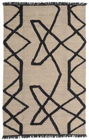 Boho Fish - Grau/Schwarz Teppich  200X300 Echter Moderner Handgewebter Hellgrau/Schwartz (Wolle, Indien)