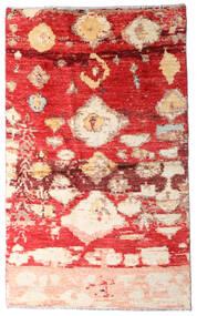 Moroccan Berber - Afghanistan Teppich  123X202 Echter Moderner Handgeknüpfter Rost/Rot/Dunkelrot (Wolle, Afghanistan)