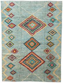 Moroccan Berber - Afghanistan Teppich  203X274 Echter Moderner Handgeknüpfter Hellgrau/Türkisblau (Wolle, Afghanistan)