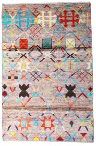 Moroccan Berber - Afghanistan Teppich  119X177 Echter Moderner Handgeknüpfter Beige/Dunkelgrau (Wolle, Afghanistan)