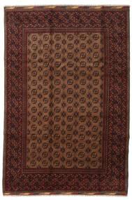 Afghan Teppich 201X294 Echter Orientalischer Handgeknüpfter Dunkelrot/Braun (Wolle, Afghanistan)