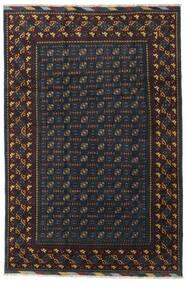 Afghan Teppich 199X297 Echter Orientalischer Handgeknüpfter Schwartz/Dunkelgrau (Wolle, Afghanistan)