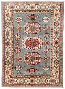 Kazak Teppich 124X174 Echter Orientalischer Handgeknüpfter Dunkelgrau/Dunkelrot (Wolle, Pakistan)