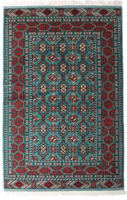 Turkaman Teppich 140X208 Echter Orientalischer Handgeknüpfter Schwartz/Dunkelgrün (Wolle, Persien/Iran)