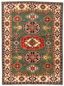 Kazak Teppich 155X211 Echter Orientalischer Handgeknüpfter Dunkelgrün/Rot (Wolle, Afghanistan)