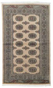 Pakistan Buchara 2Ply Teppich  96X161 Echter Orientalischer Handgeknüpfter Hellgrau/Dunkelgrau (Wolle, Pakistan)
