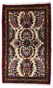 Asadabad Teppich 64X103 Echter Orientalischer Handgeknüpfter Dunkelbraun/Dunkelrot (Wolle, Persien/Iran)