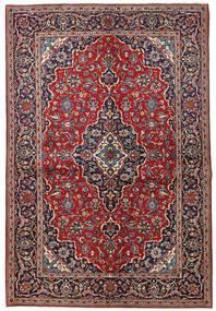 Keshan Teppich 149X223 Echter Orientalischer Handgeknüpfter Dunkelrot/Dunkellila (Wolle, Persien/Iran)