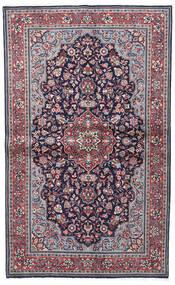 Sarough Sherkat Farsh Teppich 130X208 Echter Orientalischer Handgeknüpfter Dunkellila/Hellgrau (Wolle, Persien/Iran)