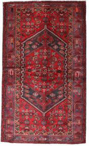 Hamadan Teppich  135X228 Echter Orientalischer Handgeknüpfter Dunkelrot/Rot (Wolle, Persien/Iran)
