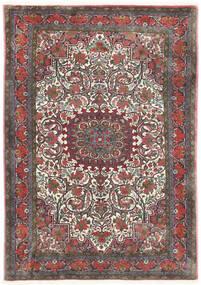 Bidjar Takab/Bukan Teppich 113X153 Echter Orientalischer Handgeknüpfter Dunkelgrau/Dunkelrot (Wolle, Persien/Iran)