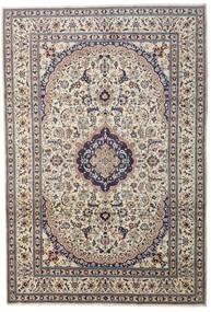 Nain Teppich  241X349 Echter Orientalischer Handgeknüpfter Hellgrau/Dunkelgrau/Beige (Wolle, Persien/Iran)