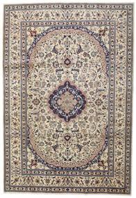 Nain Teppich  242X351 Echter Orientalischer Handgeknüpfter Hellgrau/Beige (Wolle, Persien/Iran)