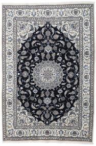 Nain Teppich  197X290 Echter Orientalischer Handgeknüpfter Hellgrau/Dunkelgrau (Wolle, Persien/Iran)