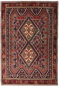 Afshar Shahre Babak Teppich 125X182 Echter Orientalischer Handgeknüpfter Dunkelrot/Dunkelbraun (Wolle, Persien/Iran)