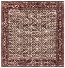 Bidjar Teppich  200X203 Echter Orientalischer Handgeknüpfter Quadratisch Dunkelbraun/Dunkelrot (Wolle, Persien/Iran)