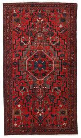 Hamadan Teppich  124X223 Echter Orientalischer Handgeknüpfter Dunkelrot/Rost/Rot (Wolle, Persien/Iran)